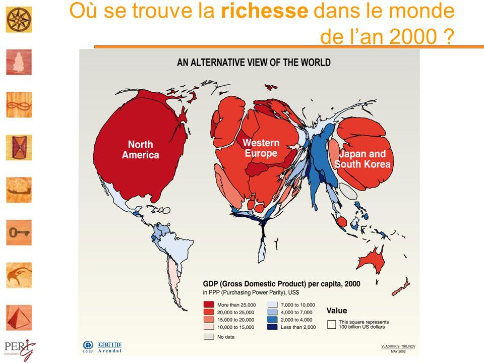 Où se trouve la richesse dans le monde de l'an 2000