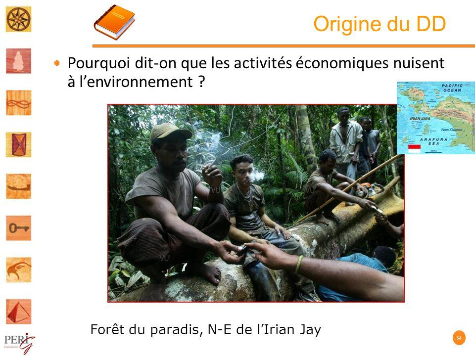 Origine du DD Pourquoi dit-on que les activités économiques nuisent à l'environnement .