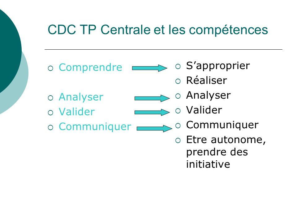 CDC TP Centrale et les compétences