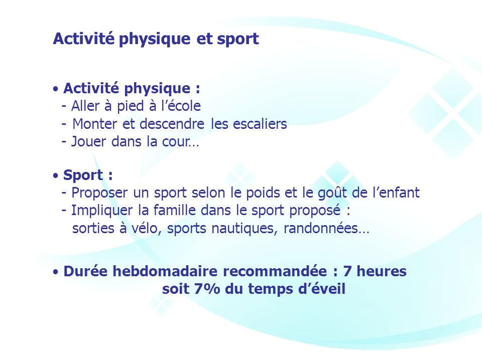 Activité physique et sport