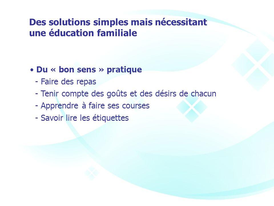 Des solutions simples mais nécessitant une éducation familiale