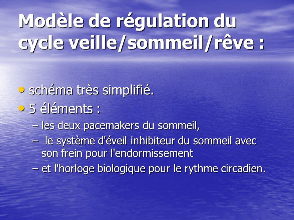 Modèle de régulation du cycle veille/sommeil/rêve :