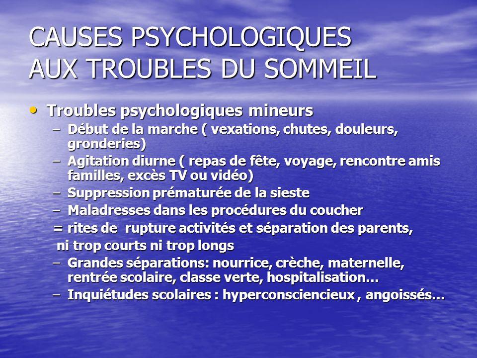 CAUSES PSYCHOLOGIQUES AUX TROUBLES DU SOMMEIL