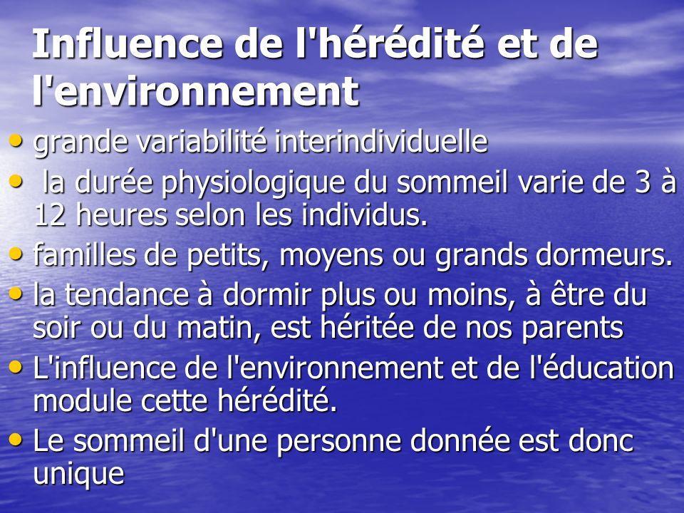 Influence de l hérédité et de l environnement