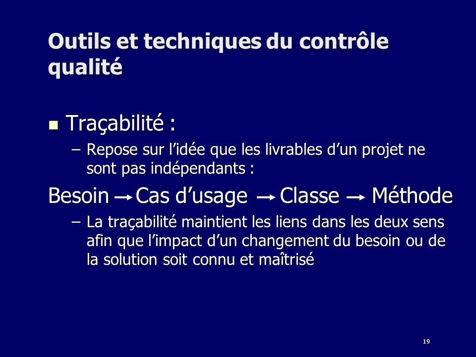 Outils et techniques du contrôle qualité