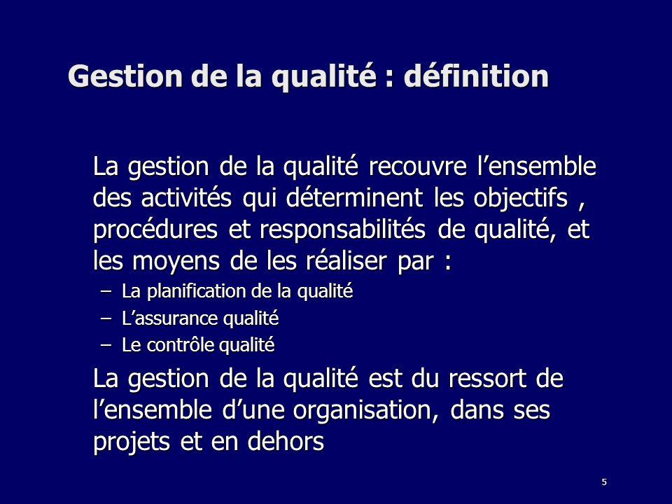 Gestion de la qualité : définition