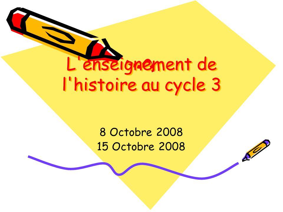 L enseignement de l histoire au cycle 3
