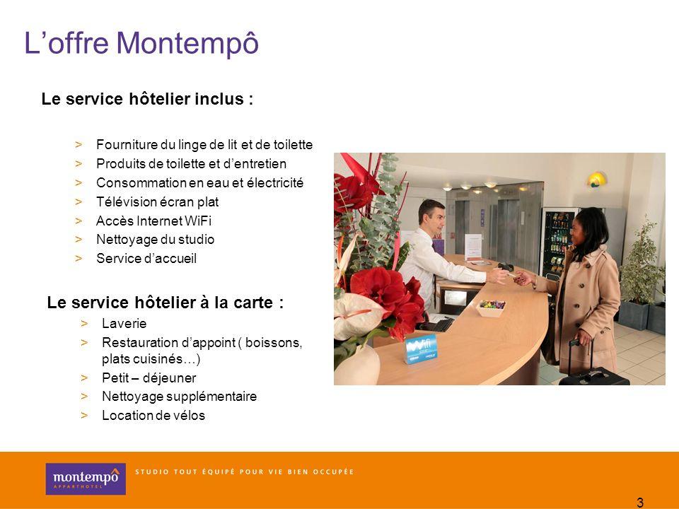 L'offre Montempô Le service hôtelier inclus :