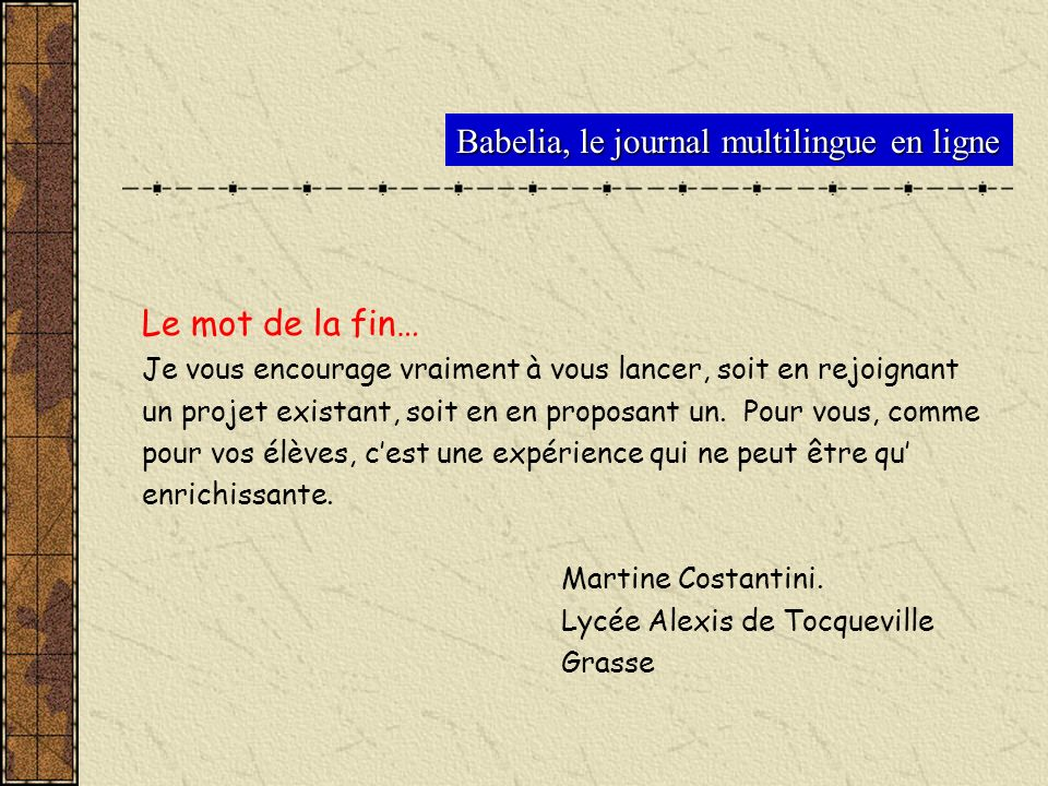 Babelia, le journal multilingue en ligne