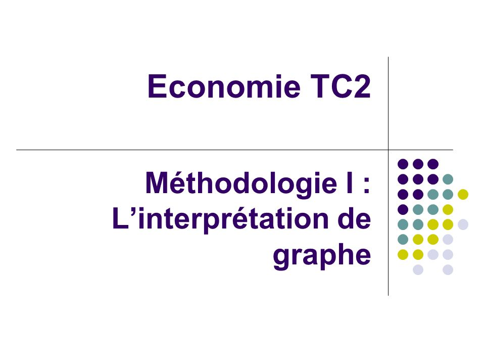 Méthodologie I : L'interprétation de graphe