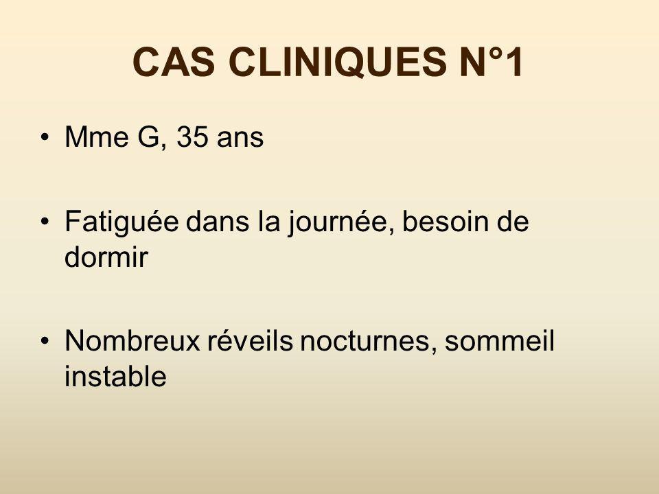 CAS CLINIQUES N°1 Mme G, 35 ans