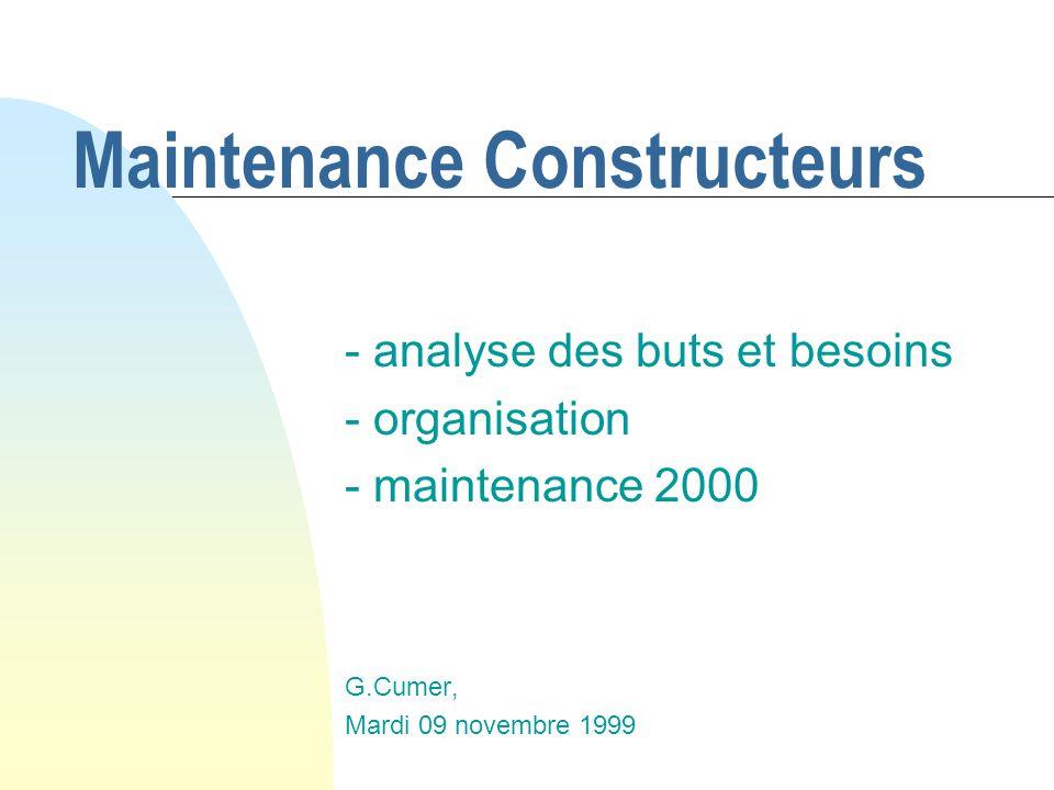 Maintenance Constructeurs
