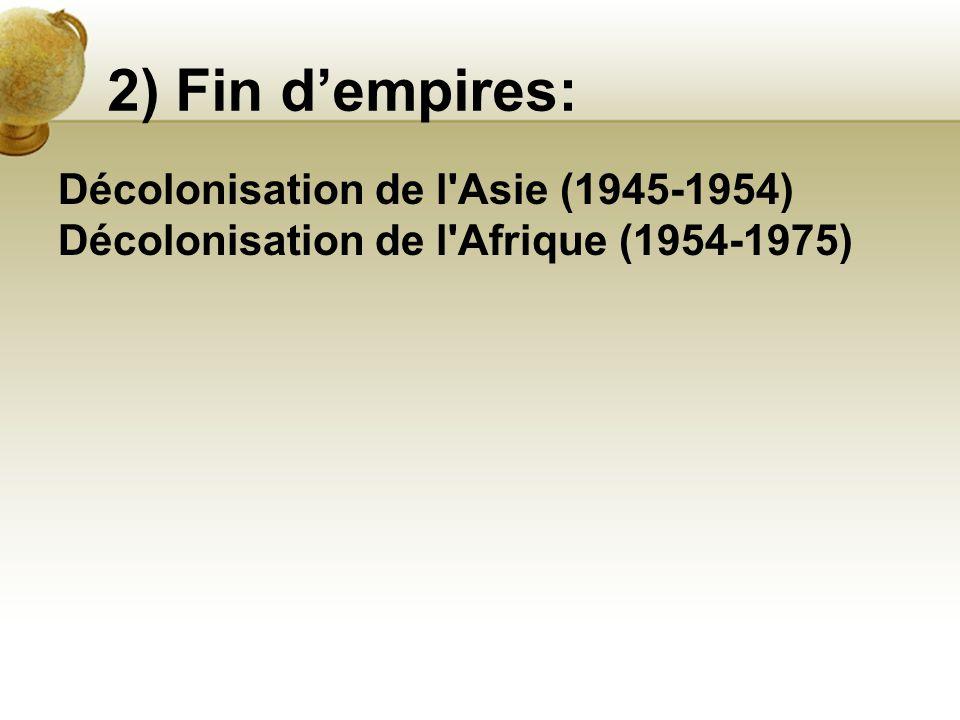2) Fin d'empires: Décolonisation de l Asie (1945-1954)
