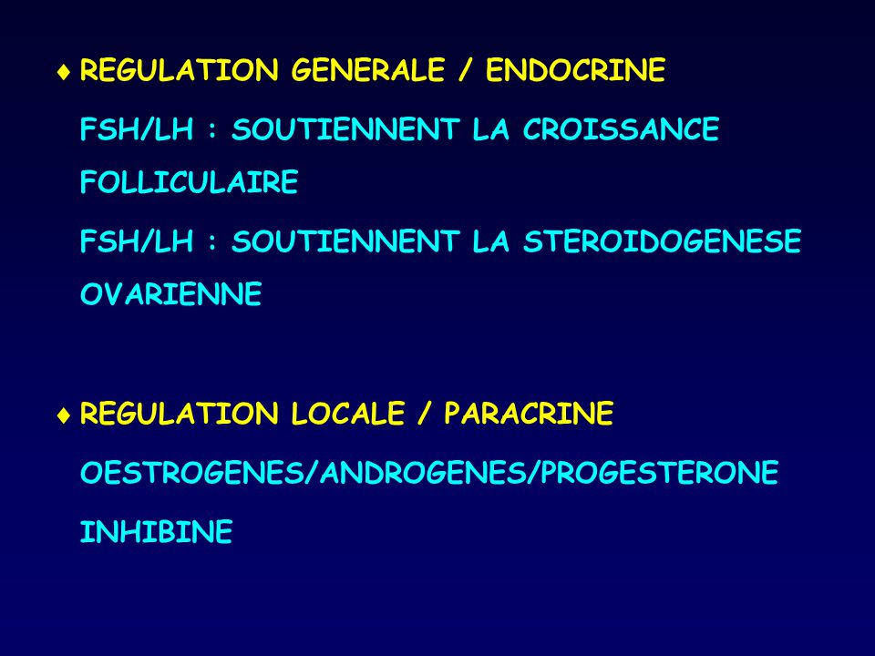 REGULATION GENERALE / ENDOCRINE