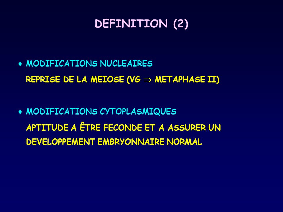 DEFINITION (2) MODIFICATIONS NUCLEAIRES