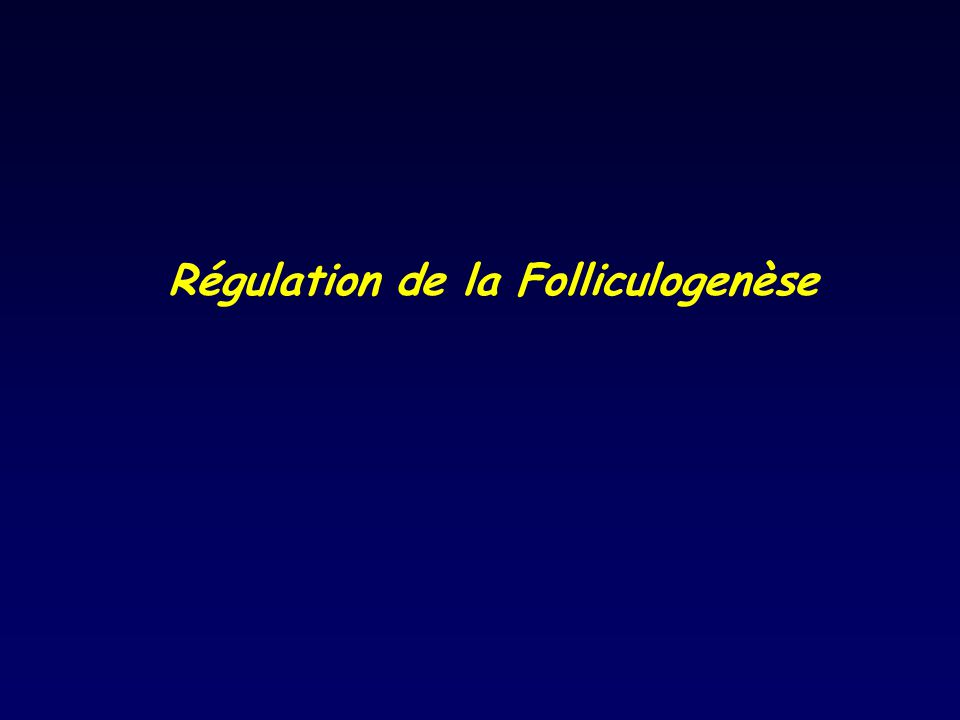 Régulation de la Folliculogenèse