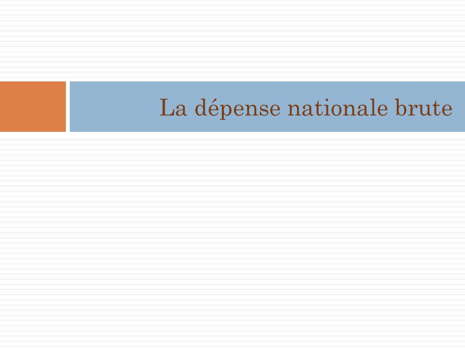 La dépense nationale brute