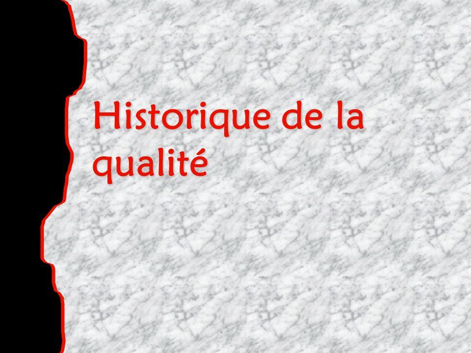 Historique de la qualité