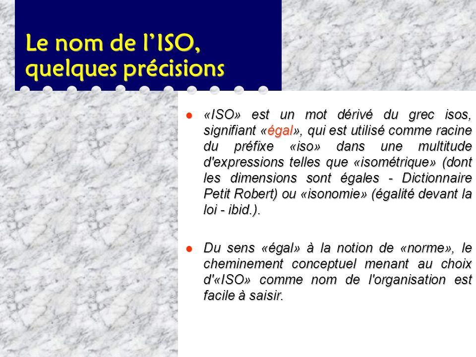 Le nom de l'ISO, quelques précisions