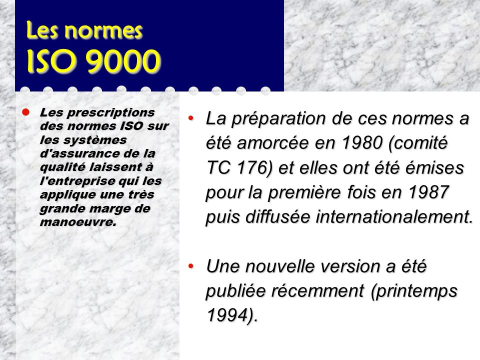 Les normes ISO 9000