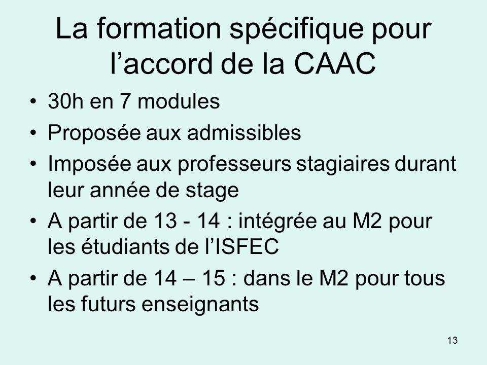 La formation spécifique pour l'accord de la CAAC