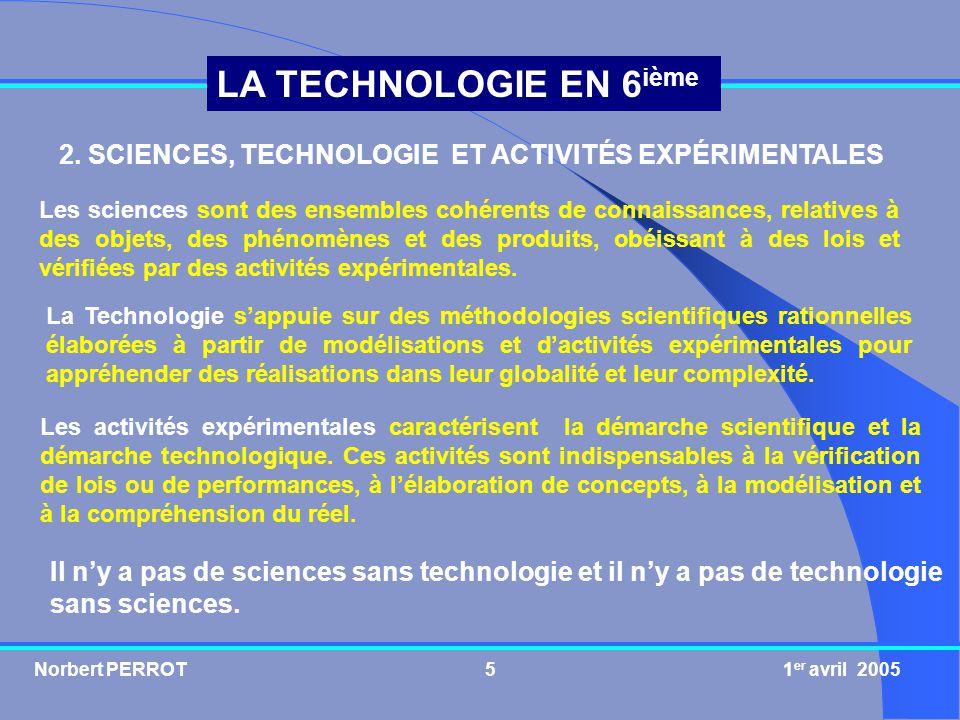 2. SCIENCES, TECHNOLOGIE ET ACTIVITÉS EXPÉRIMENTALES