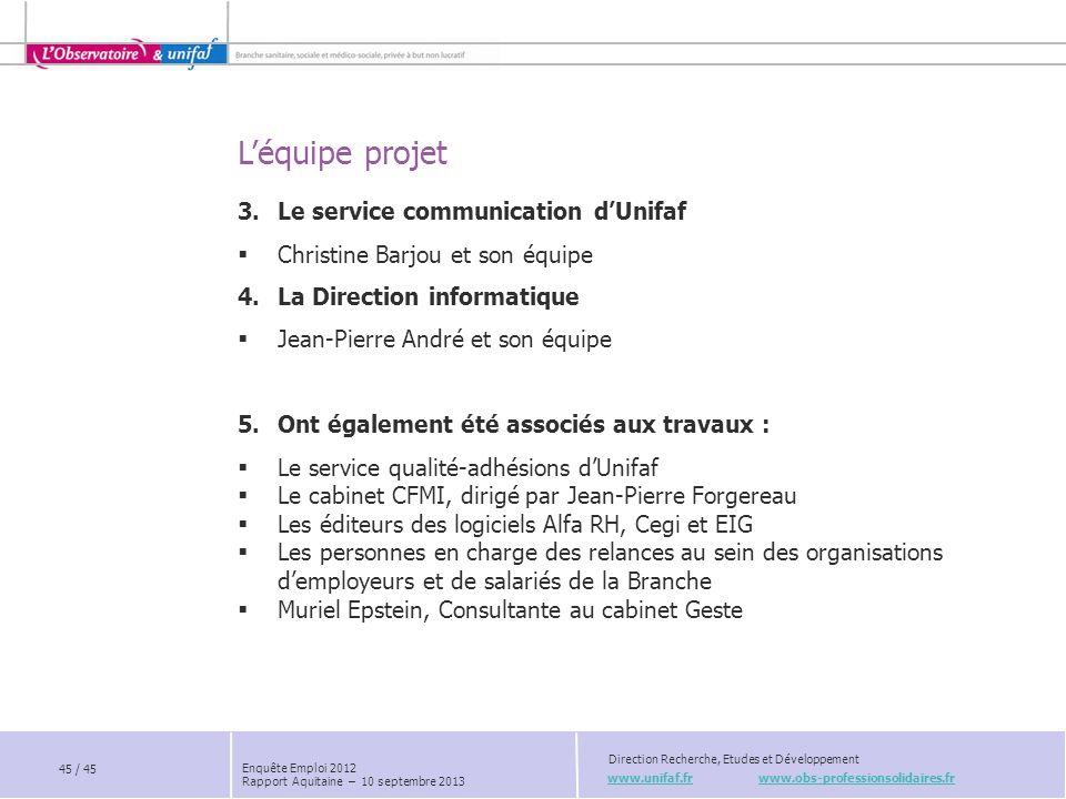 Le service communication d'Unifaf Christine Barjou et son équipe