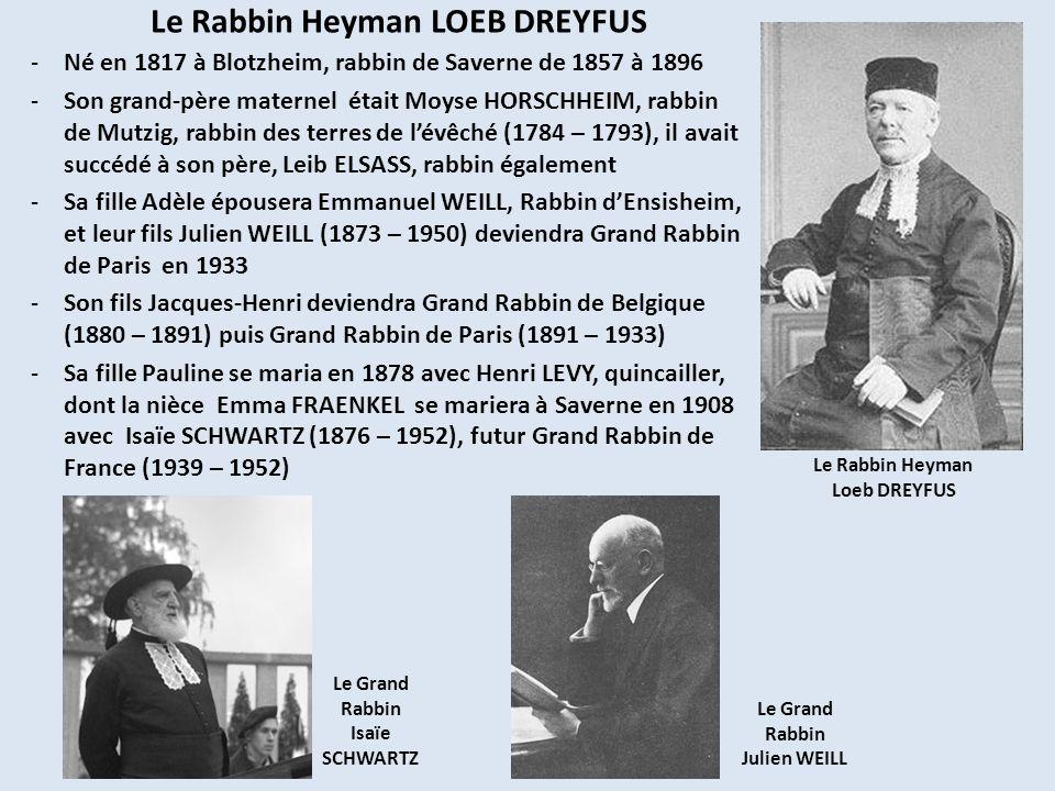Le Rabbin Heyman LOEB DREYFUS