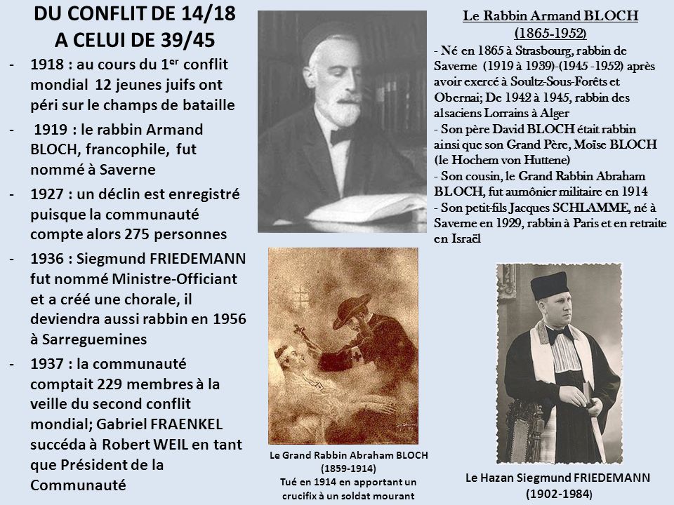 DU CONFLIT DE 14/18 A CELUI DE 39/45