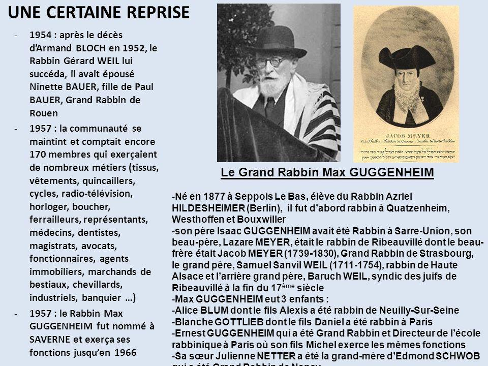 Le Grand Rabbin Max GUGGENHEIM