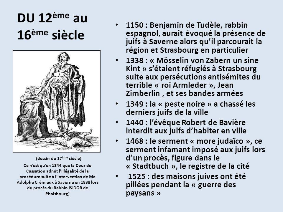 DU 12ème au 16ème siècle