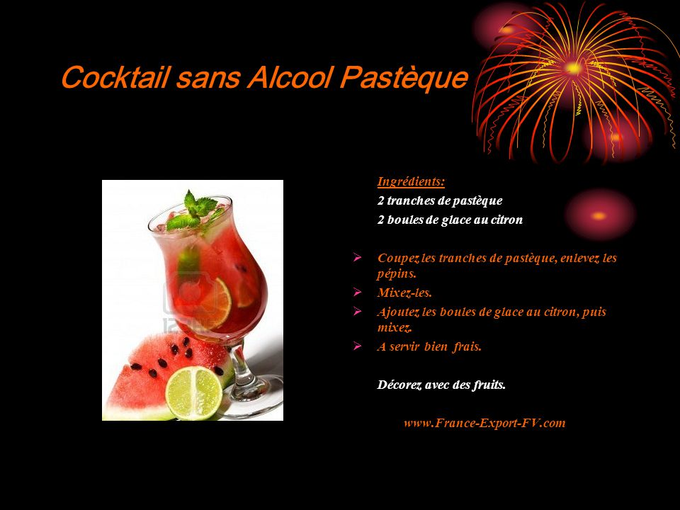 Cocktail sans Alcool Pastèque