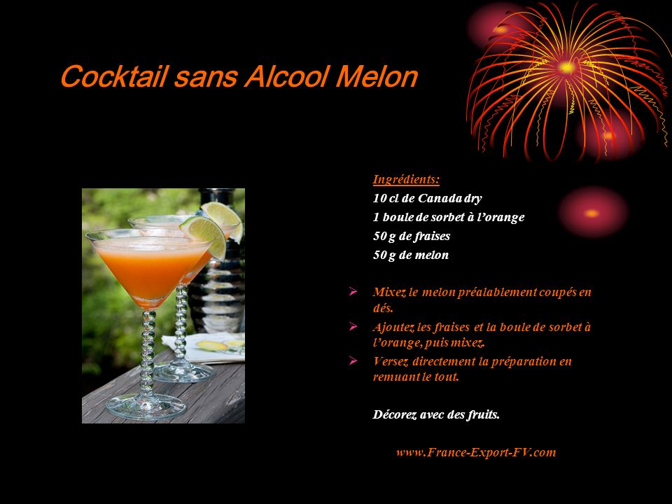 Cocktail sans Alcool Melon