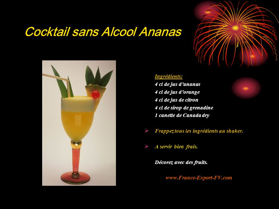 Cocktail sans Alcool Ananas