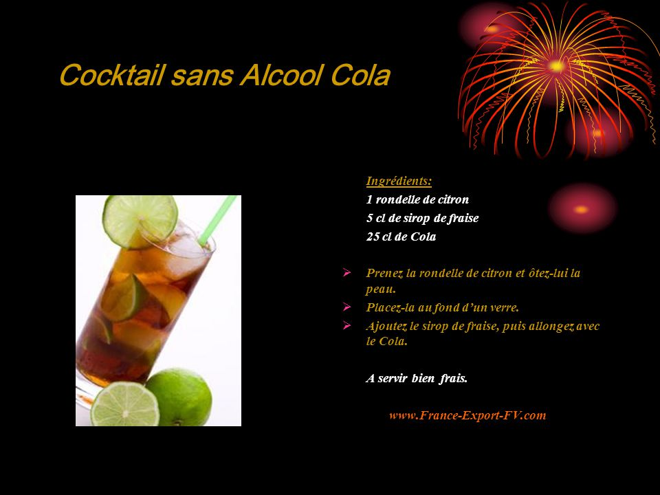 Cocktail sans Alcool Cola