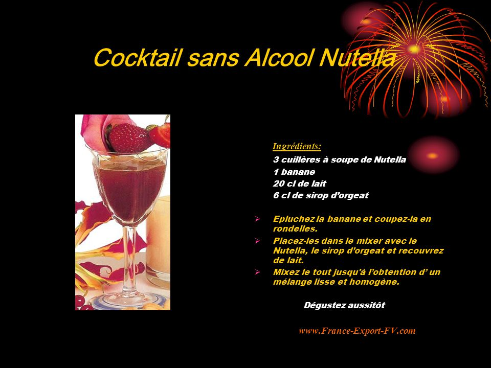 Cocktail sans Alcool Nutella