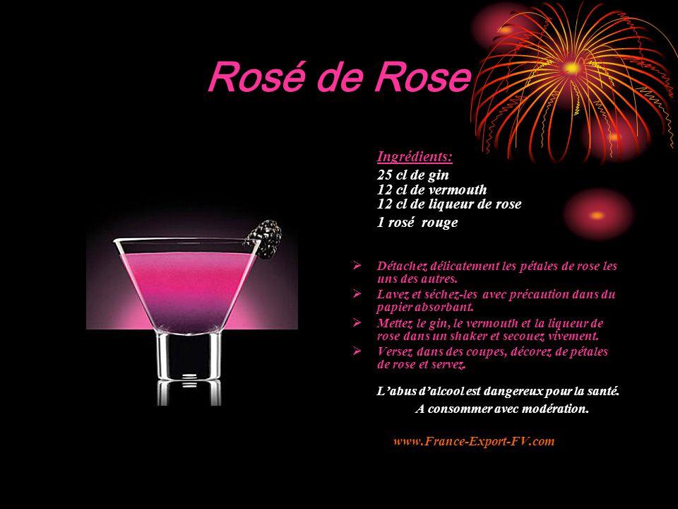 Rosé de Rose Ingrédients: