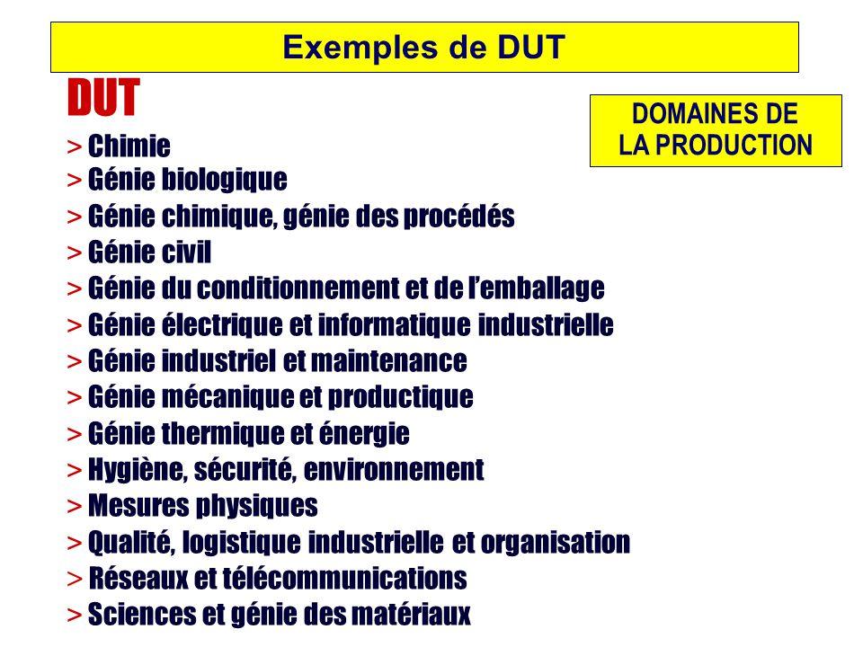 DUT Exemples de DUT > Chimie > Génie biologique