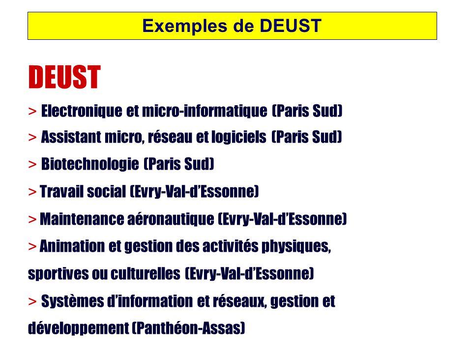DEUST Exemples de DEUST