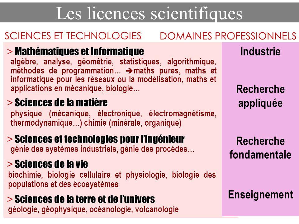 Les licences scientifiques