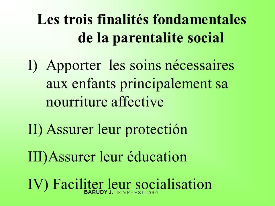 Les trois finalités fondamentales de la parentalite social