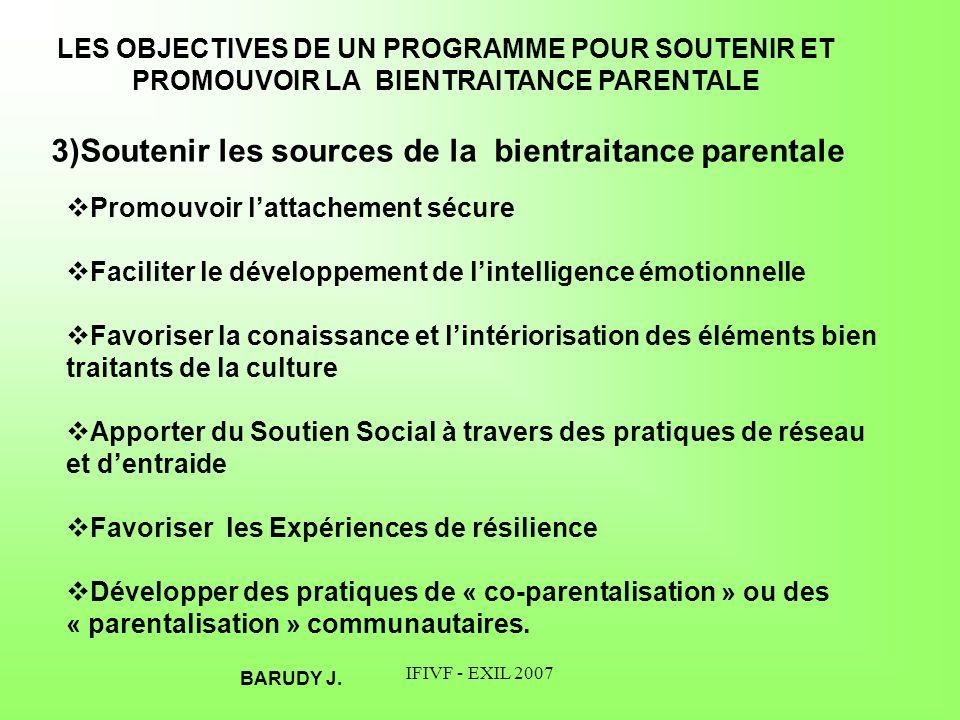 3)Soutenir les sources de la bientraitance parentale