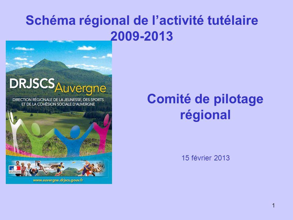 Schéma régional de l'activité tutélaire 2009-2013