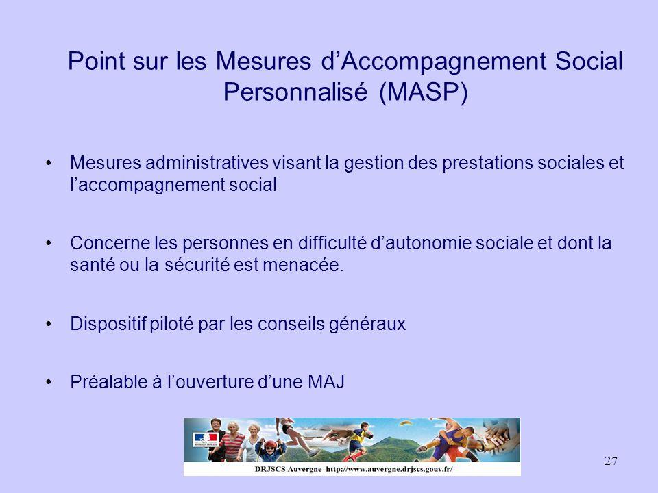 Point sur les Mesures d'Accompagnement Social Personnalisé (MASP)