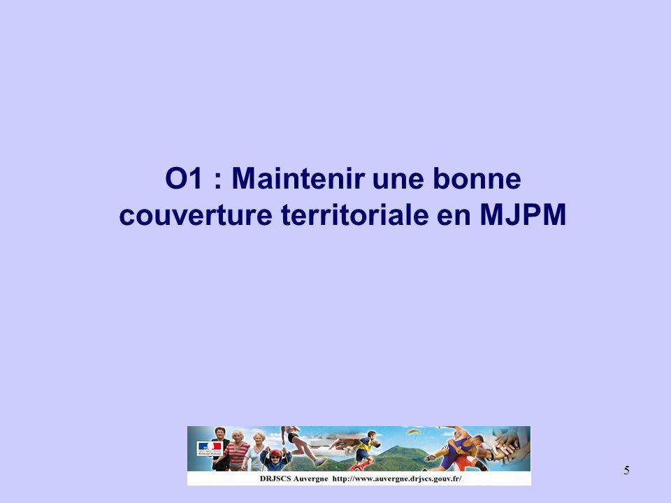 O1 : Maintenir une bonne couverture territoriale en MJPM