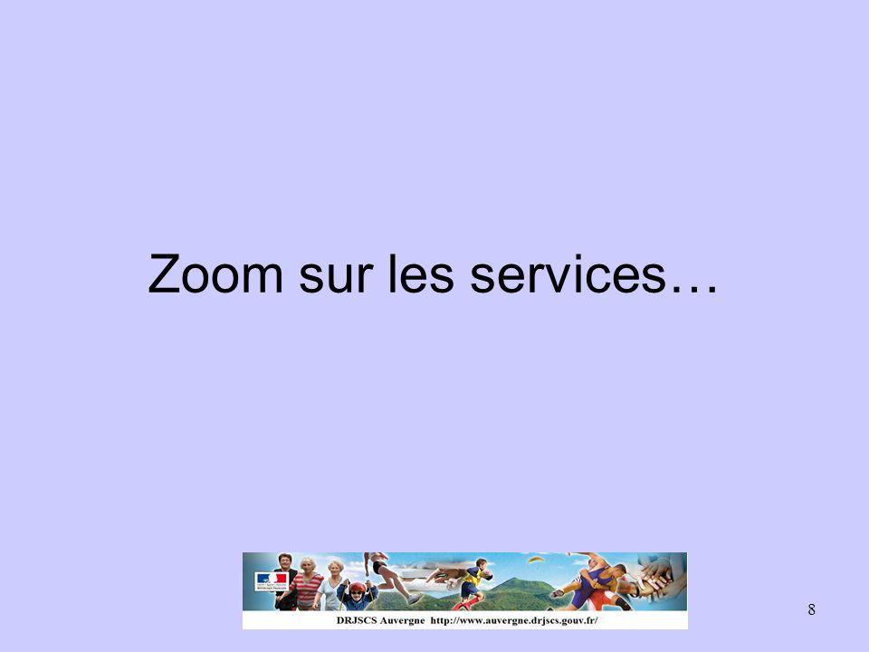 Zoom sur les services…