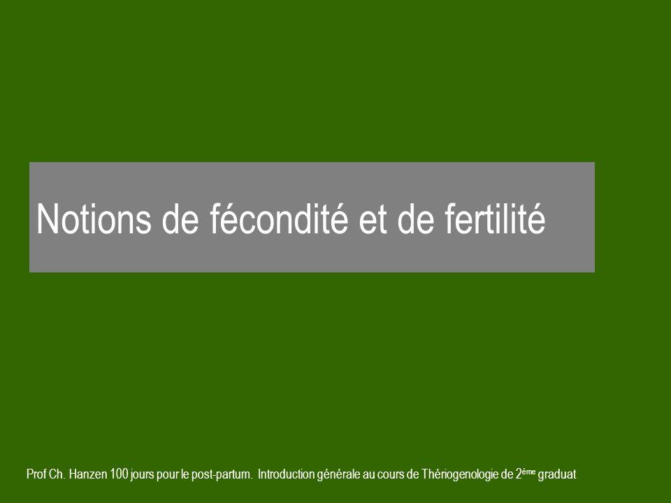 Notions de fécondité et de fertilité