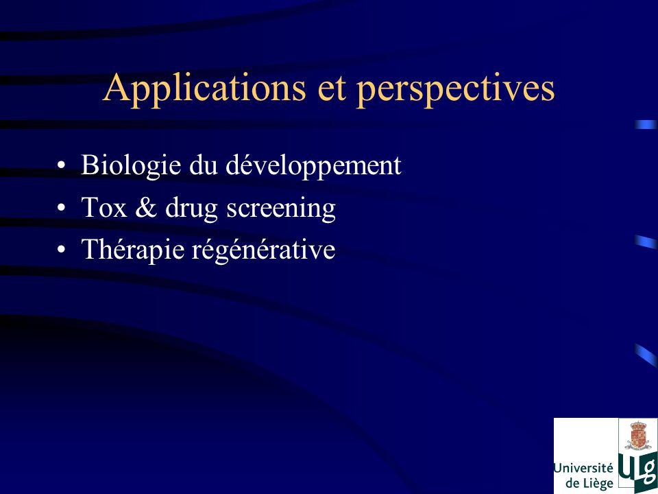 Applications et perspectives