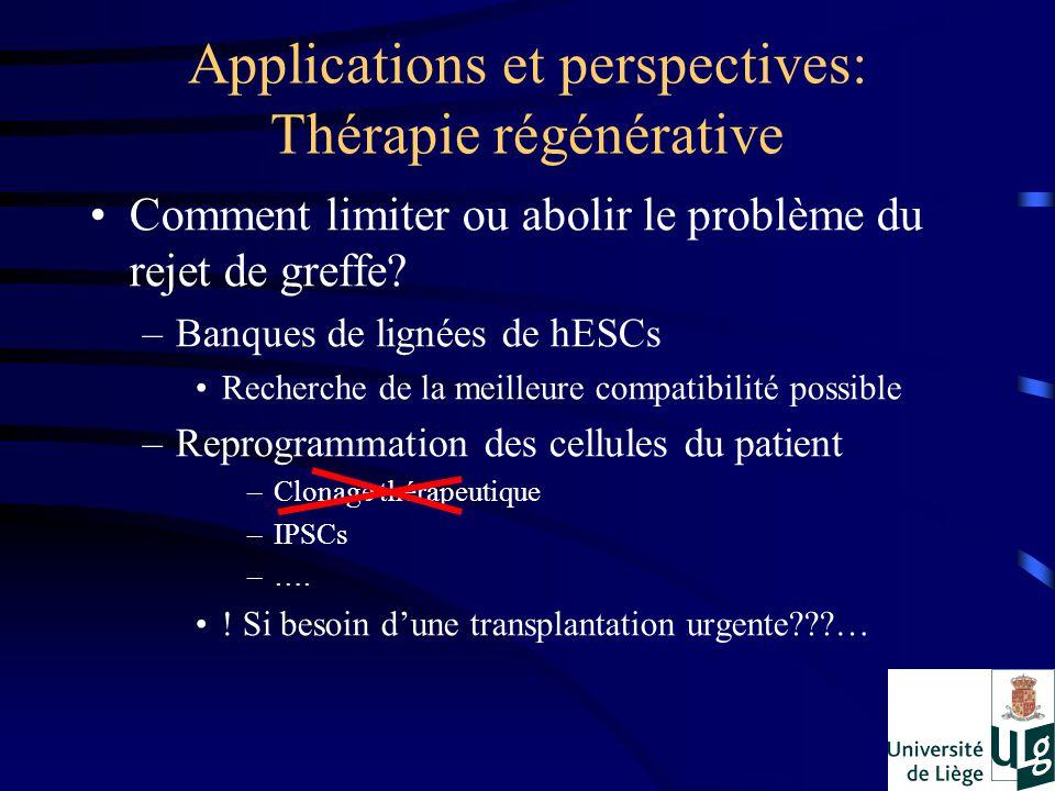 Applications et perspectives: Thérapie régénérative