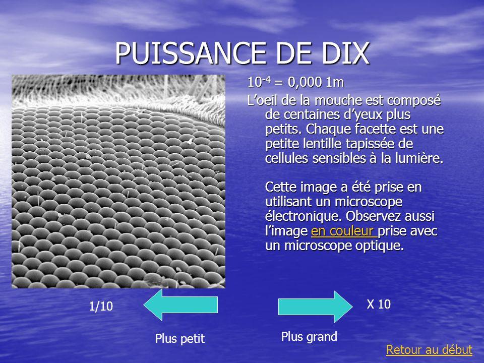 PUISSANCE DE DIX10-4 = 0,000 1m.